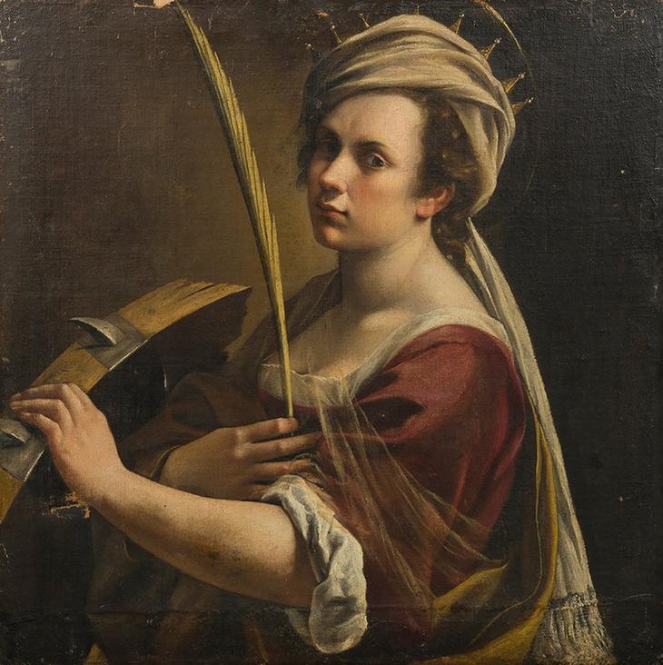 «Автопортрет в образе св. Екатерины» (1615)