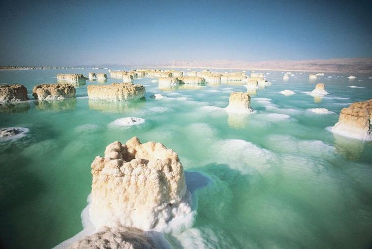 Соляные столбы Мертвого моря. Израиль. Фото