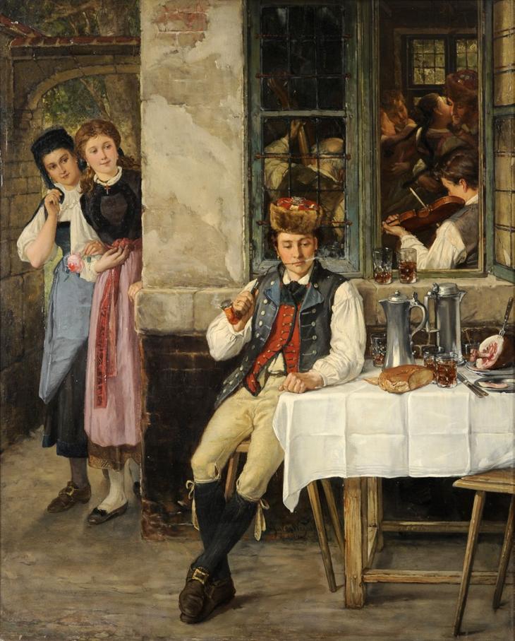 JULES SALLES WAGNER (1814 1898) THE HANDSOME VIS