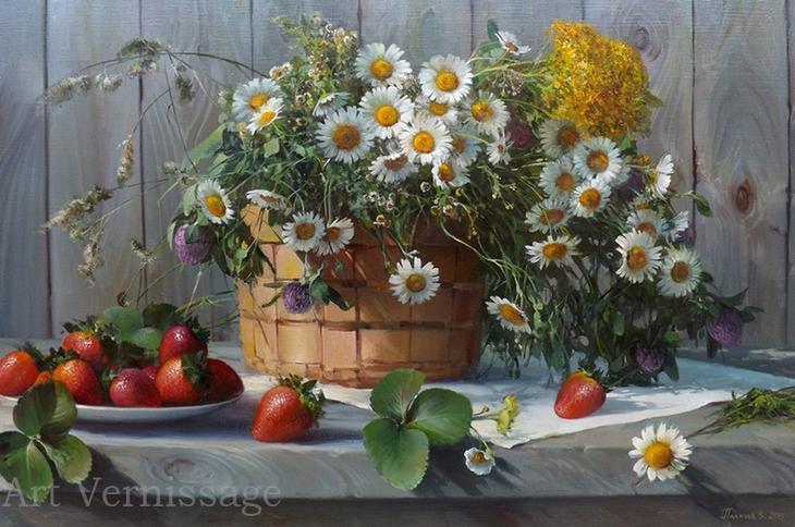 Ромашки - картина Ð'.Ð.Палачева