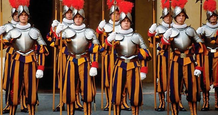 Vaticano Estilo, exército, guerra, mundo, forma, roupas, forma