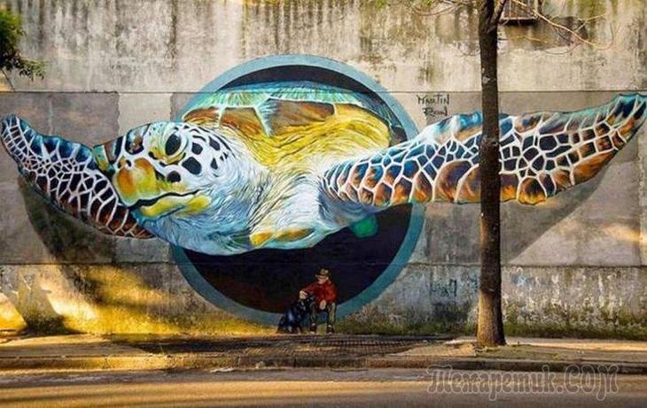 Потрясающий стрит-арт
