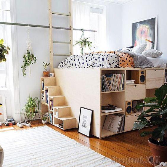 Гениальные конструкции «умной» мебели для небольших помещений