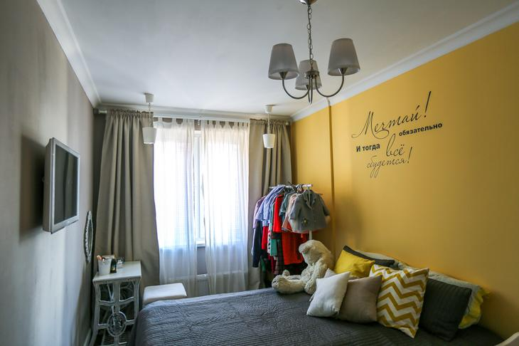Спальня в желтом цвете