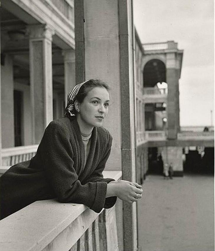 Актриса Клара Лучко на Северном речном терминале в Москве