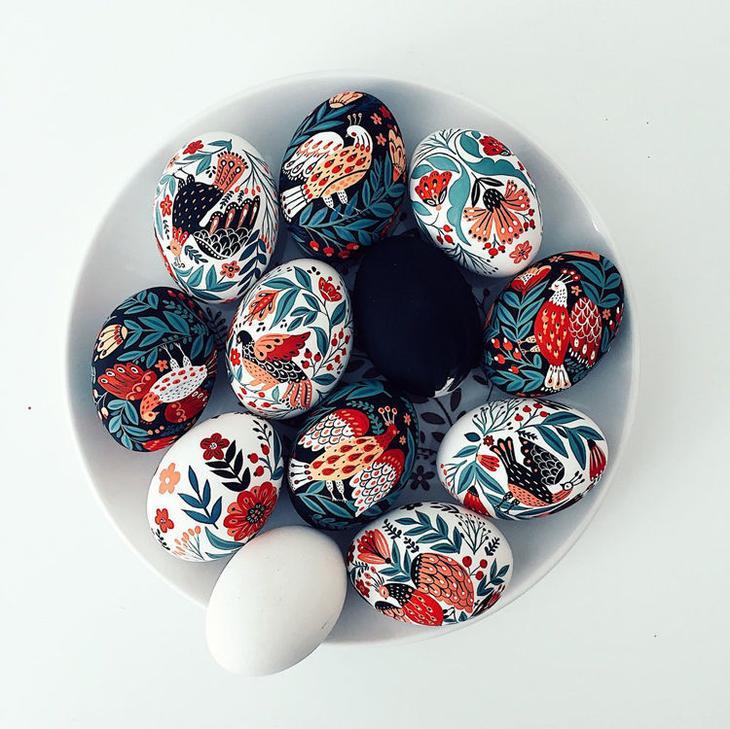 Пасхальные яйца фольклорные мотивы от художницы из Узбекистана Динары Мирталиповой, фото № 20