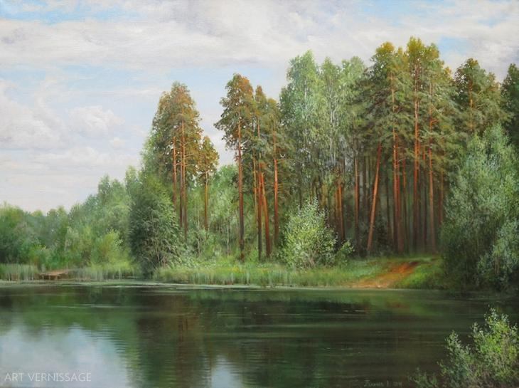 СоÑновый берег - картина Ð'.Ð.Палачева