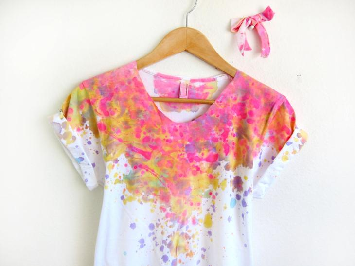 Декорирование одежды краской