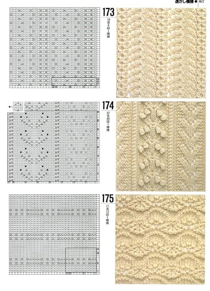 Схемы узоров для вязания женских жилетов спицами, пример 10