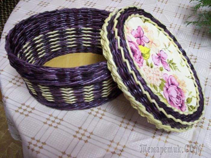 fullsize Как плести из трубочек для плетения: корзинки для начинающих с фото