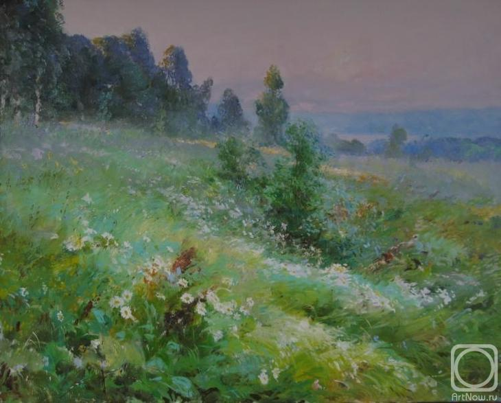 Картина маслом на холсте. Комаров Николай. Луга