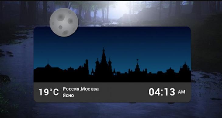 Окно World Cities Widget