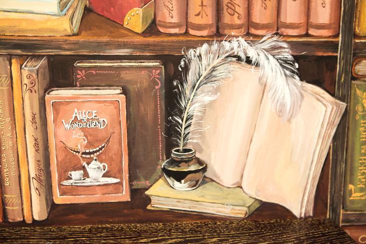 нарисованная библиотека