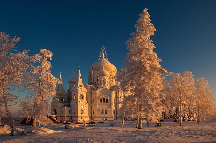 Зимний пейзаж в Белогорье