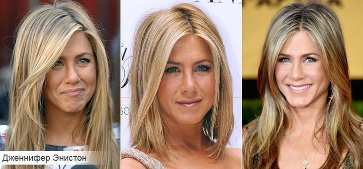Как подобрать стрижку для тонких волос на примере Дженнифер Энистон