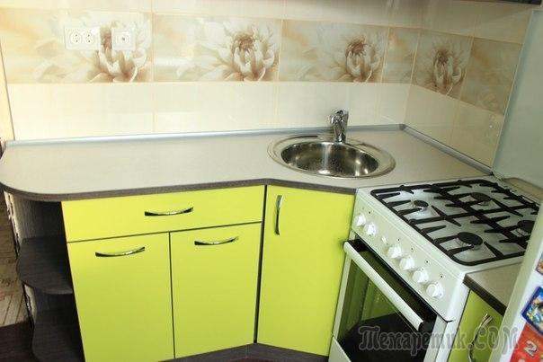 Вот так красиво мы сделали кухню 5 кв.м - ремонт до и после