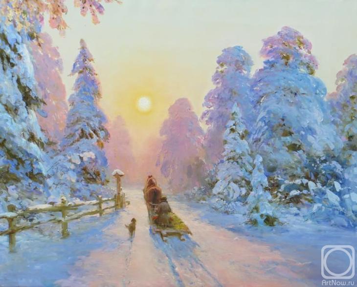 Картина маслом на холсте. Комаров Николай. Рождество