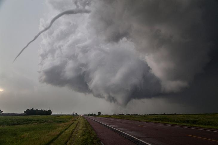 Двойной торнадо в Южной Дакоте