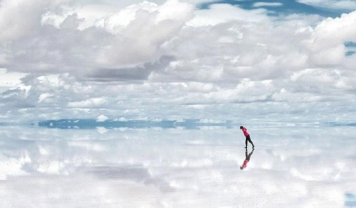 Салар де Уюуни соленое озеро в Боливии