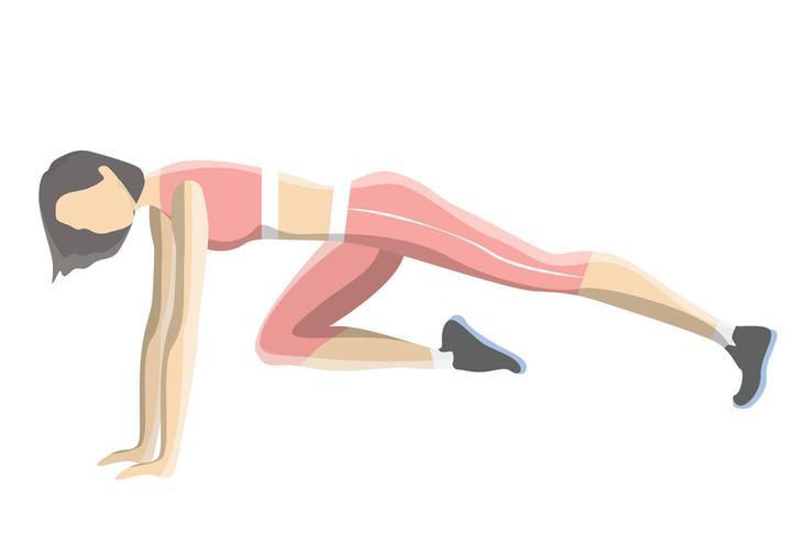 Упражнения на пресс — Альпинист