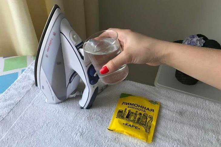 Как почистить утюг от накипи лимонной кислотой