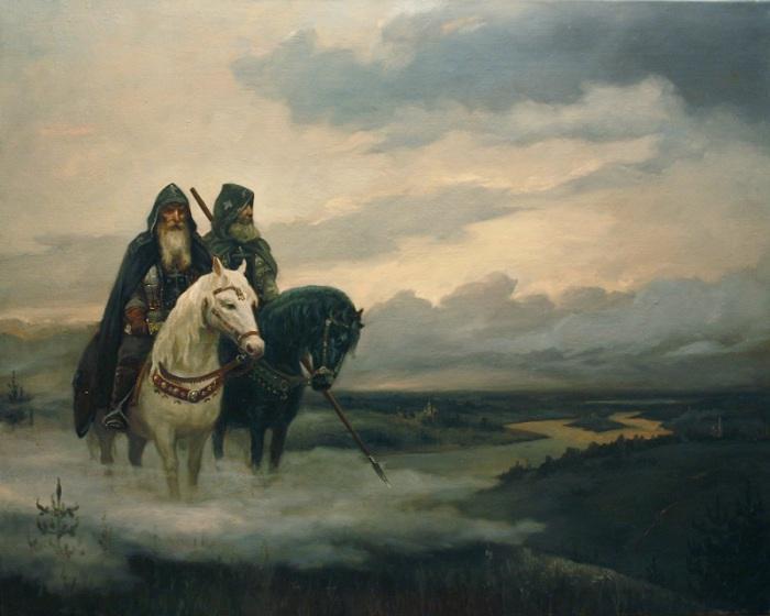 Многогранные работы Андрея Шишкина: славянские языческие боги и таинственные женские образы
