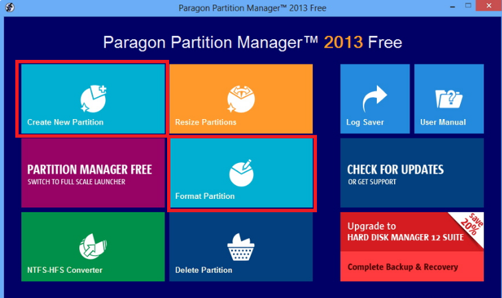 Рис. №12. Paragon Partition Manager Free
