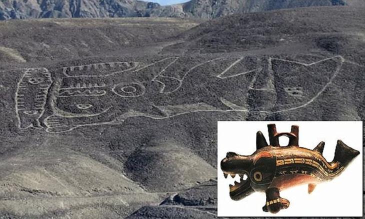 Тайна кита-убийцы в пустыне Перу археология, геоглифы, гигантские фигуры, история, косатка, перу, пустыня, тайны древних