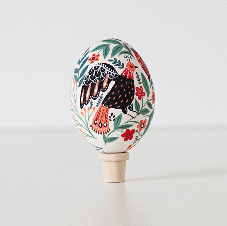 Пасхальные яйца фольклорные мотивы от художницы из Узбекистана Динары Мирталиповой, фото № 24