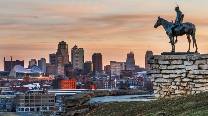 Большая часть штата Канзас круто, переезд, страны, уезжают