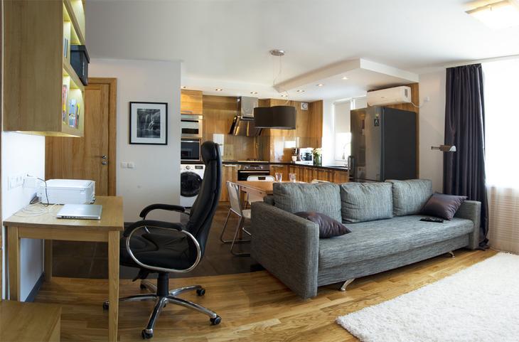 Фотография: Гостиная в стиле , Квартира, Дома и квартиры, Проект недели – фото на InMyRoom.ru