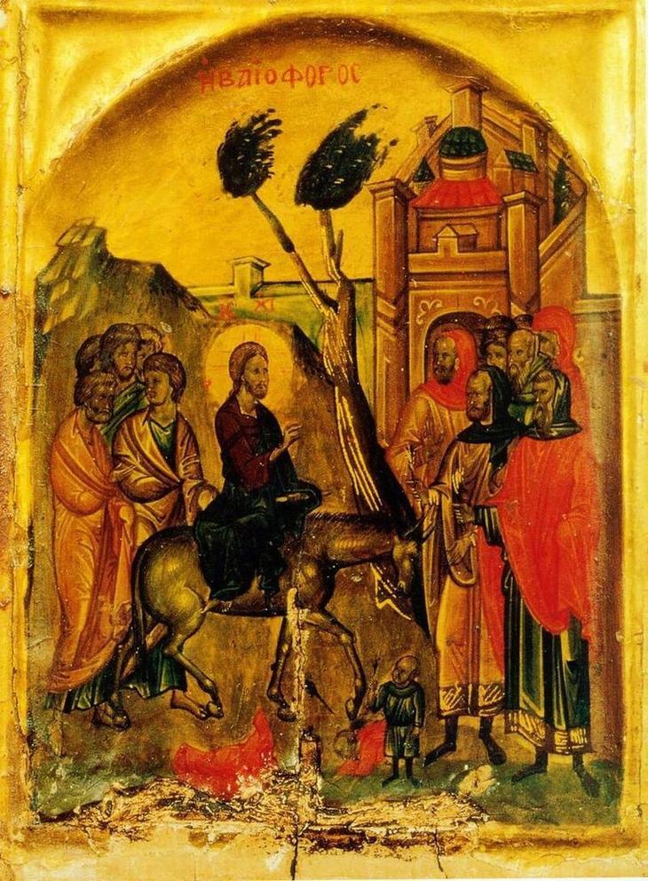 Christ_entering_Jerusalem_icon Ñинай 14 в..jpg