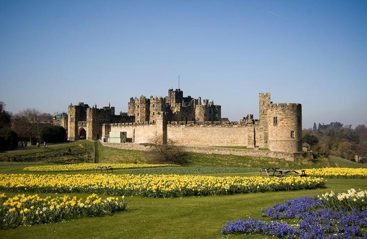 Замок Алник, Англия. Построен в XI веке. европа, замки, история, средневековье