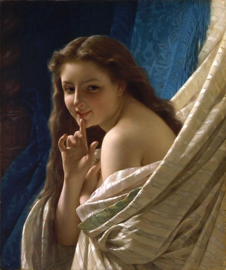 Portrait Of Young Woman by Pierre Auguste Cot