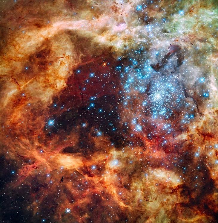 Галактика NGC 2070. Снимок сделан космическим телескопом Хаббла