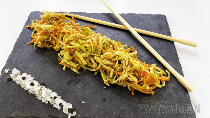 Кабачки по корейски - закуска из кабачков всего за 5 минут