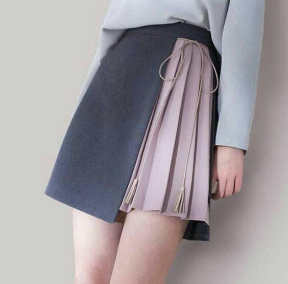Много идей необычных юбок с запахом