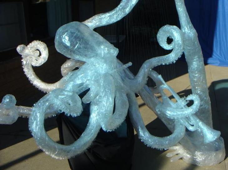 3 Lila F Осьминог оркестр 55 р Лучшие работы конкурса скульптур из скотча Off the Roll 2012