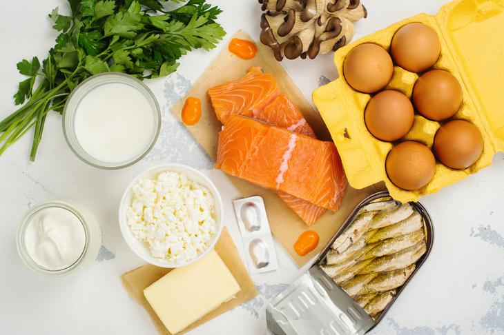Продукты питания с витамином D
