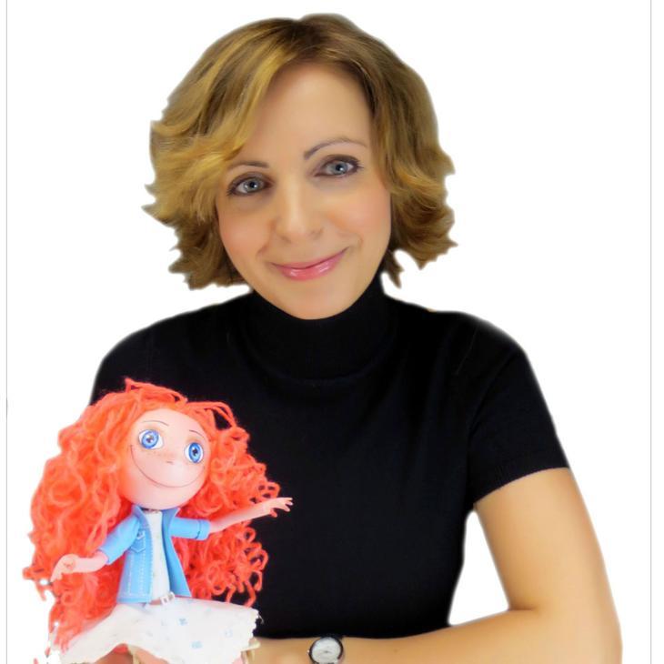 Рыжеволосая красавица-кукла из фоамирана от евгении романовой