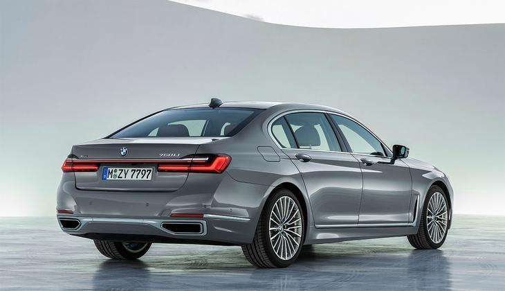 фотографии BMW 7-Series 2021-2020 вид сзади