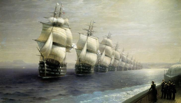 Иван Константинович Айвазовский. Смотр Черноморского флота в 1849 году