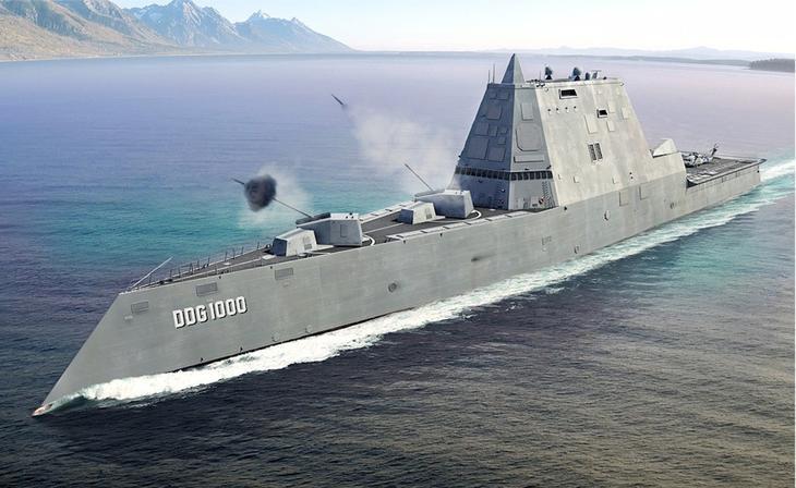 Внешность Предполагается, что эсминцы Zumwalt будут верой и правдой служить США на протяжении трех-четырех следующих десятилетий. О планах на далекое будущее говорит и облик судна, довольно необычный для современного кораблестроения. Основная задача инженеров-проектировщиков была максимально снизить заметность эсминца радиолокационными средствами. В угоду этому обводы корпуса и все надстройки выглядят как система плоскостей, стыкующихся под разными углами. Низкие борта, с наклоном к палубе, служат той же цели. Ходовые характеристики Zumwalt'a только выиграли от подобной компоновки: корабль развивает весьма внушительную для своих габаритов и своего класса скорость.