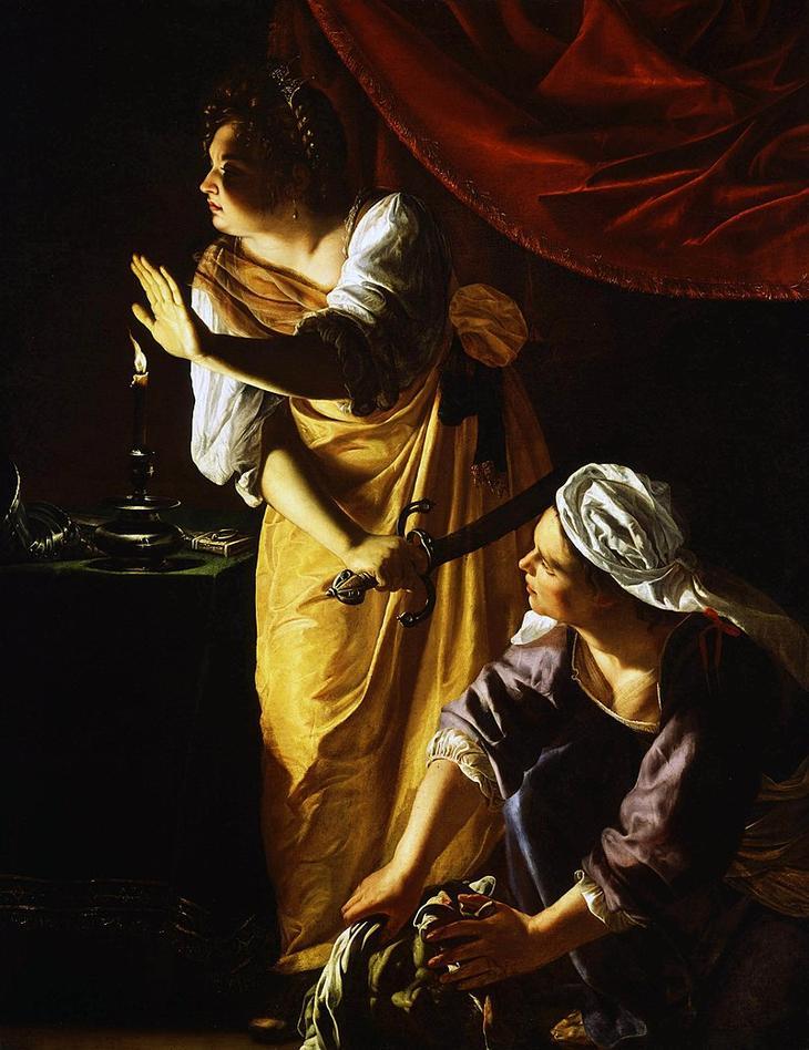 «Юдифь и её служанка с головой Олоферна» (1623-1625)