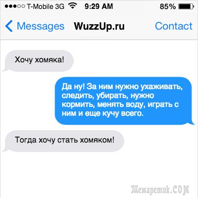 17 убойных СМС от настоящих мужиков!
