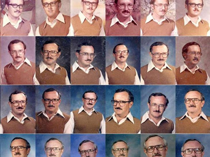 Учитель 40 лет подряд надевал один и тот же наряд для фотографирования с классом