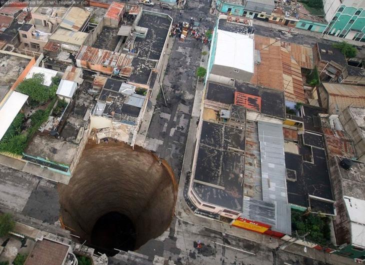 Впадина в Гватемала Сити, Гватемала Фаты, дыры, земля, интересное, природа, провалы, страшно, удивительное