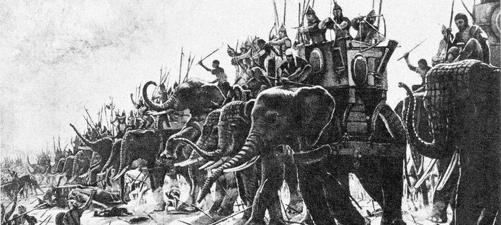 Боевые слоны Египта