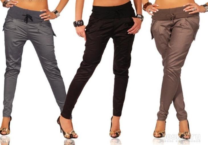 Фото готовых поясов на сшитых женских брюках, вариант 14