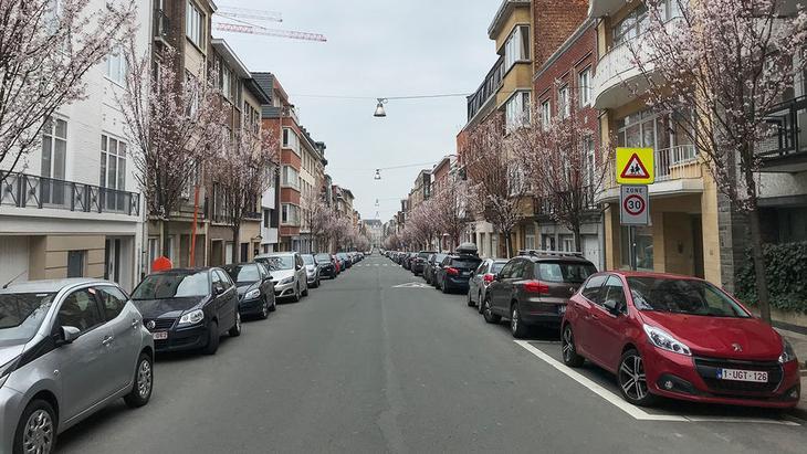 Одна из улиц в Брюсселе, Бельгия, 20 марта 2020 года